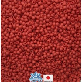 TOHO® Seed Beads Opaque-Frosted Pepper Red TR-11-45F 11/0 (2,2 mm) 10 g.