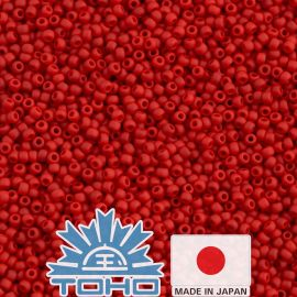 TOHO® Seed Beads Opaque-Frosted Cherry TR-11-45AF 11/0 (2.2 mm) 10 g.
