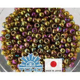 TOHO® Biseris Gold-Lustered Dk Topaz TR-11-459 11/0 (2,2 mm) 10 g.