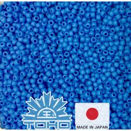 TOHO® Seed Beads Opaque-Frosted Cornflower TR-11-43DF 11/0 (2,2 mm) 10 g.