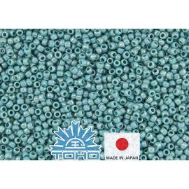 TOHO® Seed Beads Opaque-Rainbow Turquoise TR-11-413 11/0 (2.2 mm) 10 g.