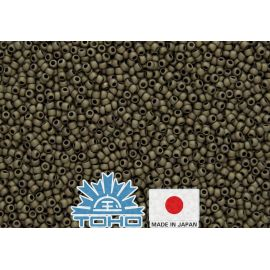TOHO® Seed Beads Frosted Antique Bronze TR-11-223F 11/0 (2.2 mm) 10 g.
