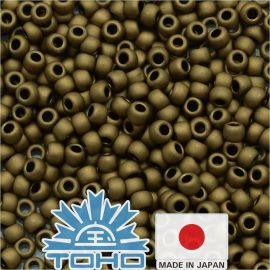 TOHO® Seed Beads Frosted Bronze TR-11-221F 11/0 (2.2 mm) 10 g.