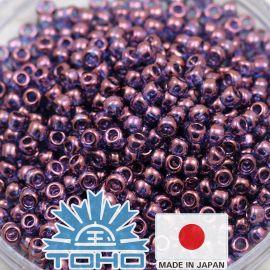 TOHO® Besier Gold-Lustered ametüst 11/0 (2,2 mm) 10 g.