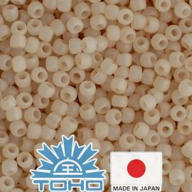 TOHO® Seed Beads Ceylon Frosted Lt Ivory 11/0 (2.2 mm) 10 g.