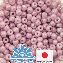 TOHO® Seed Beads Opaque-Lustered Pale Mauve 11/0 (2.2 mm) 10 g.