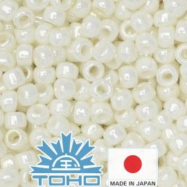 TOHO® Seed Beads Opaque-Lustered Navajo White 11/0 (2.2 mm) 10 g.