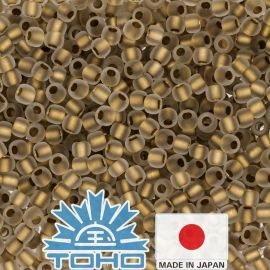 TOHO® Biseris Gold-Lined Frosted Crystal TR-11-989FM 11/0 (2,2 mm) 10 g.
