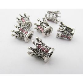 """Insert """"Crown"""", aged silver color, size 10x10 mm 1 pcs"""