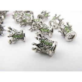 "Spacer – bead ""Crown"" 10x10 mm, 1 pcs."