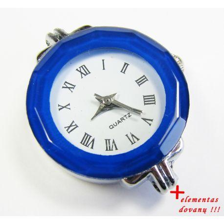 Mehāniskais pulkstenis ar elementu, zils 30x25 mm