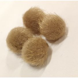 Fur bumblebees. Brown size 18x16 mm