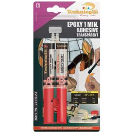 Epoxy 1 min. glue Techniqll E-358 2x12ml, 1 pack