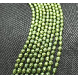 Natural Freshwater Pearls Class A 5-5,5x4-4.5 mm. ,1 strand
