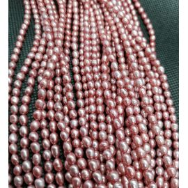 Natural Freshwater Pearls Class A 4-5x3.5-4 mm. ,1 strand