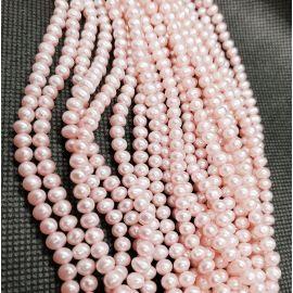 Looduslikud mageveepärlid A klass 4x4,5 mm. , 1 haru