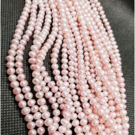 Natural Freshwater Pearls Class A 4x4.5 mm. ,1 strand