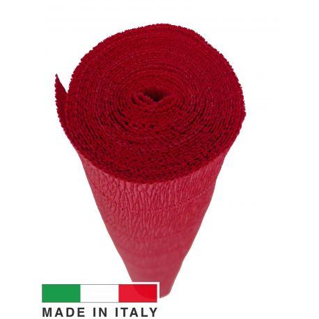 589 Itališkas krepinis popierius, raudonos spalvos, 2.50 x 0.50 m.