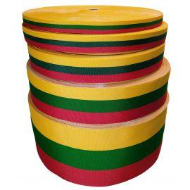 Литовская национальная трехцветная полоса шириной 10 мм, 1 метр