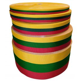 Lithuanian national tricolor stripe, 50 mm wide, 1 meter