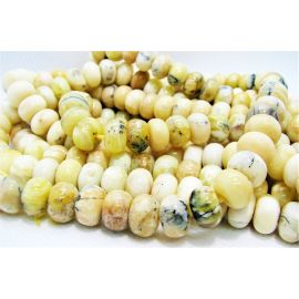 Natural Yellow Opal beads 10x6.5 mm. ,1 strand