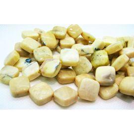 Бусины Natural Yellow Opal 17х17 мм. , 1 прядь