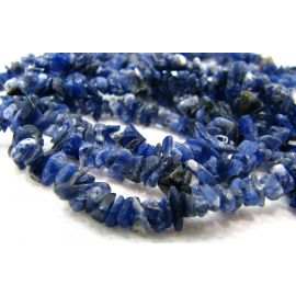 Natural Sodalite chippings 5-3x2-1 mm. , 1 thread