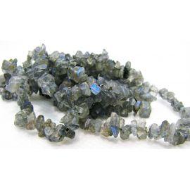 Natural Labradorito rubble 5-3x2-1 mm. ,1 strand