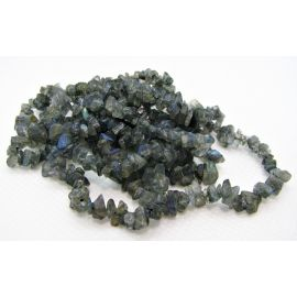Natural Labradorito chips 5-3x2-1 mm. ,1 strand