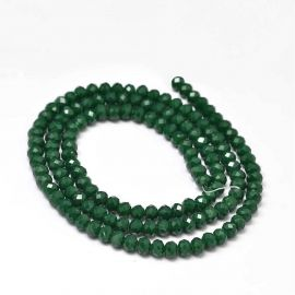 Glass beads 4x3 mm., 1 strand