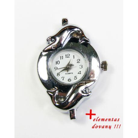 Mehāniskais pulkstenis ar elementu, sudraba krāsa 36x25mm