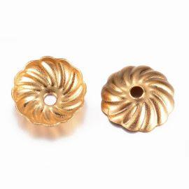 Nerūdijančio plieno 304 kepurėlė 7x1,5 mm. 4 vnt, 1 maišelis aukso spalvos