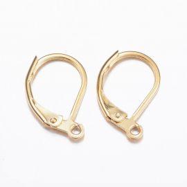Серьги-крючки из нержавеющей стали 304, 15,5х10х1,5 мм. 2 пары, 1 сумка