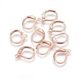 Nerūdijančio plieno 304 auskarų kabliukai 16x11,5x2 mm. 2 poros, 1 maišelis