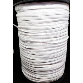 Elastic band - rubber, white, 4 mm wide, 100 m.