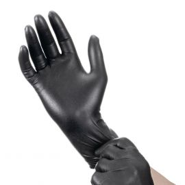 Disposable Nitrile gloves M size, black - 10 pairs