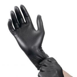 Перчатки нитриловые одноразовые размер M, черные - 10 пар