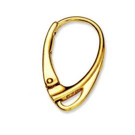 Серьги-крючки 925 позолоченные 18х10 мм. 1 пара золота