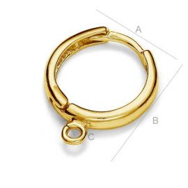 Gold-plated earrings hooks 925 17x15 mm. 1 pair
