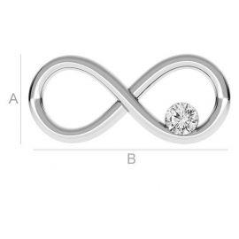 """Соединительные звенья """"Infinity"""" с глазком Сваровски 925 16x8 мм. 1 шт."""