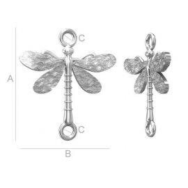 "Distributor ""Dragonfly"" 925 20x18 mm. 1 pcs. silver"