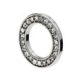 Pakabukas žiedas su kristalais 925 14x9 mm. 1 vnt.