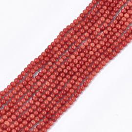 Jūrinis Bambukinis koralas (koralo imitacija) 2-3 mm., 1 gija raudonos spalvos
