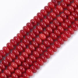 Коралл Sea Bamboo (имитация коралла) 6x4 мм., 1 нитка ярко-красная