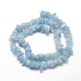 Натуральный щебень Аквамарин 14-5x10-4 мм., 1 нитка голубой