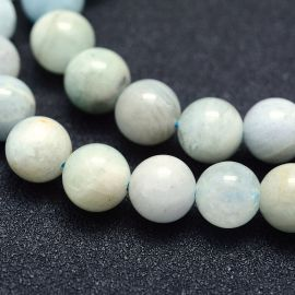 Natural Aquamarine beads 8 mm., 1 strand