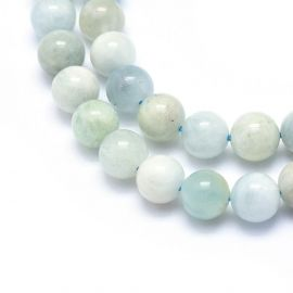 Natural Aquamarine beads 8-8.5 mm., 1 strand light blue