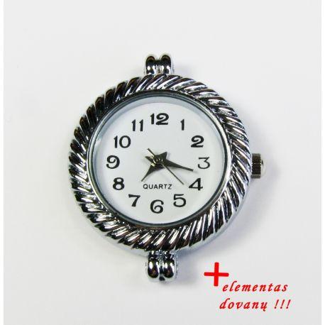 Mehāniskais pulkstenis ar elementu, sudraba krāsa 32x27 mm