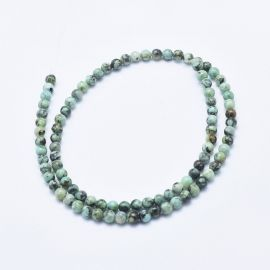 Natural African Turquoise Beads 4.5-5 mm., 1 strand