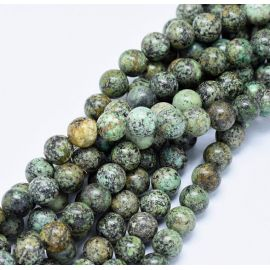 Natural African Turquoise Beads 10 mm., 1 strand